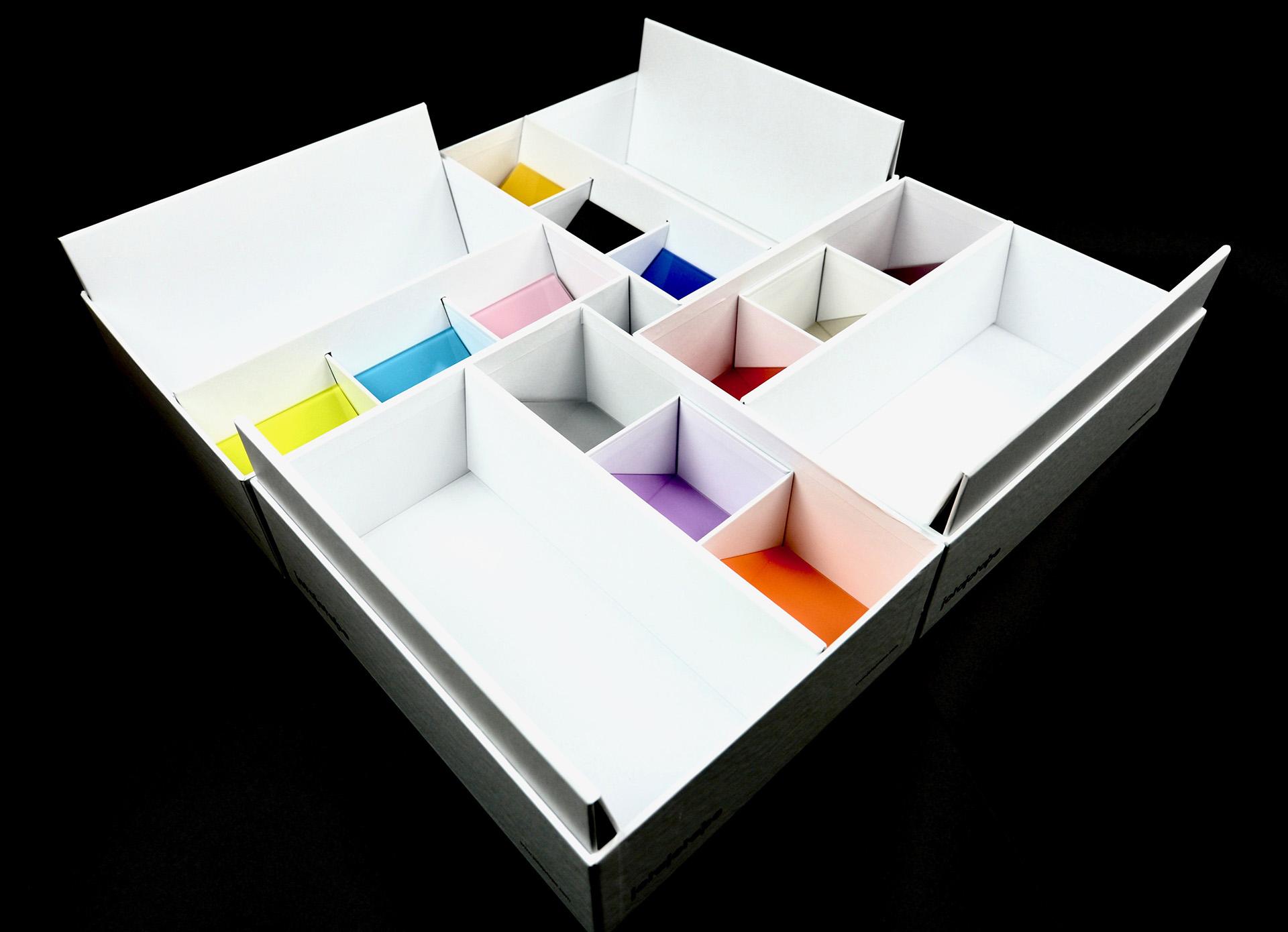 caja de muestras de madera