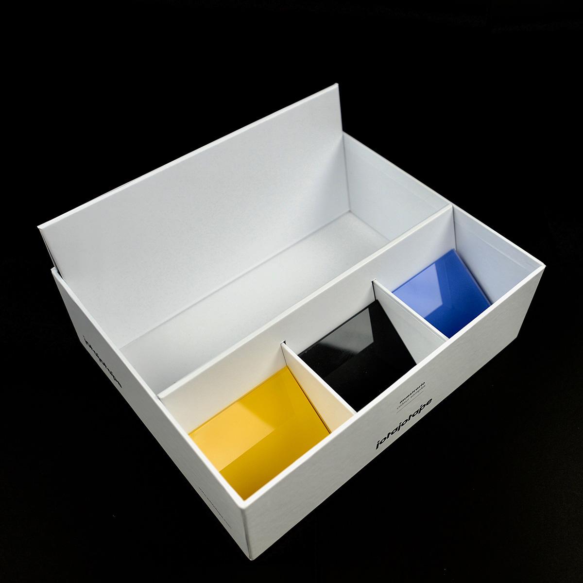 producción caja de muestras