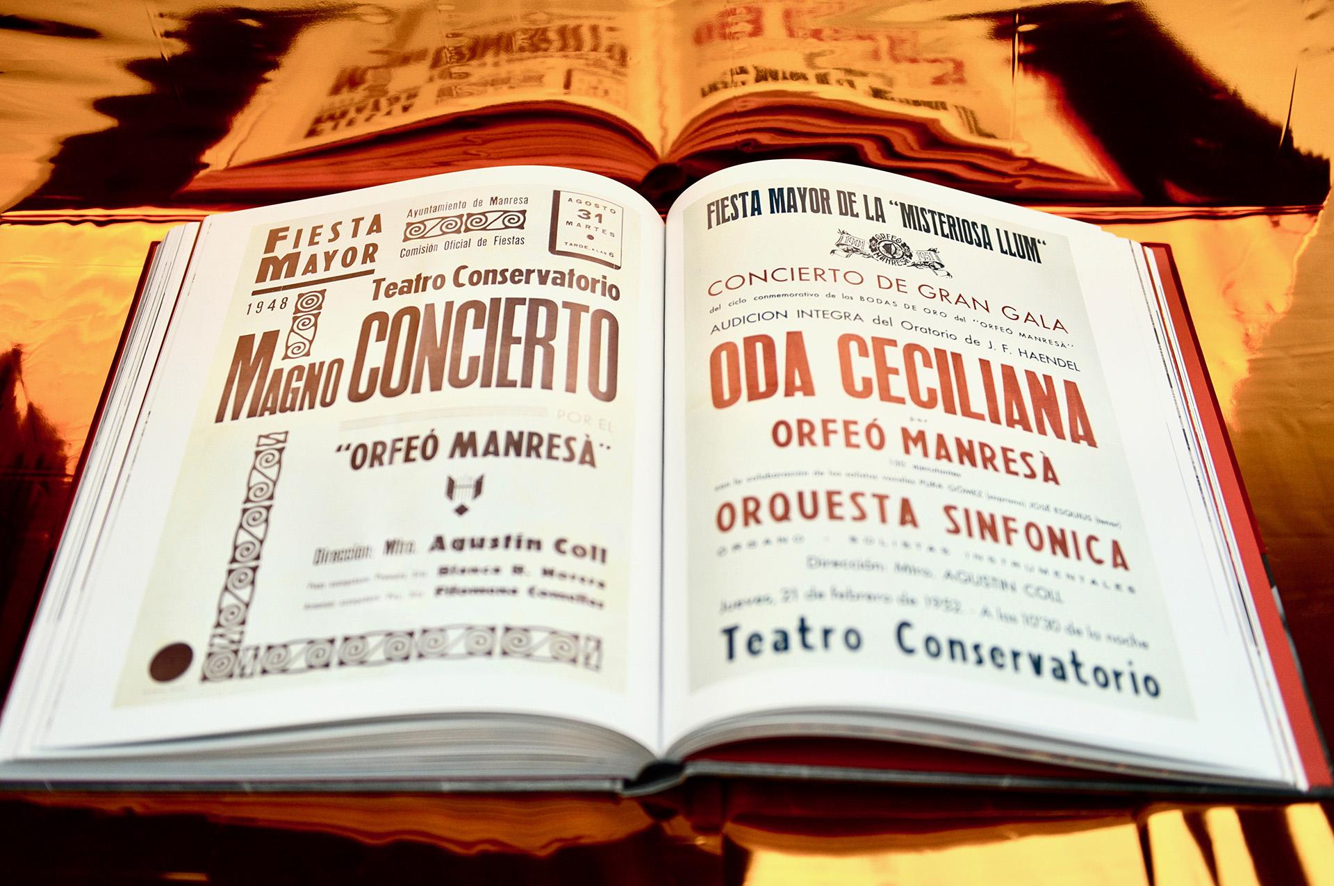 Interior libro Teatre Conservatori Manresa
