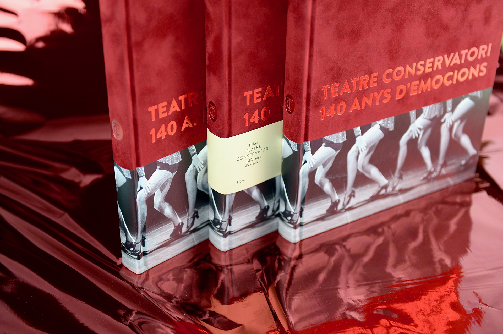 Libro encuadernado tapa dura mixta y stamping metalizado