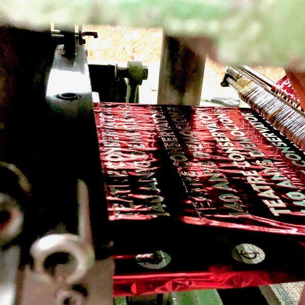 Stamping bolsa contenedor libro especial Teatre Conservatori Manresa